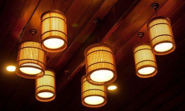 Model lampu hias dari bambu